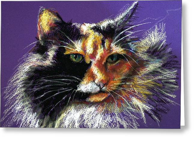 Kitten Pastel Kitten Greeting Cards - Calico Cat Greeting Card by Maggie Mayer