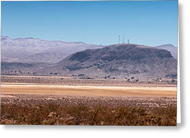 Yermo Greeting Cards - Calico Dry Lake and Elephant Mountrain Greeting Card by Jim Thompson