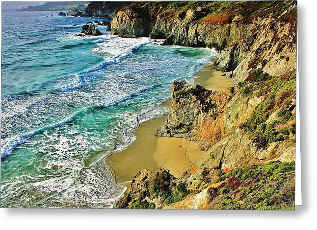 Big Sur California Greeting Cards - Californa Shore Greeting Card by Benjamin Yeager
