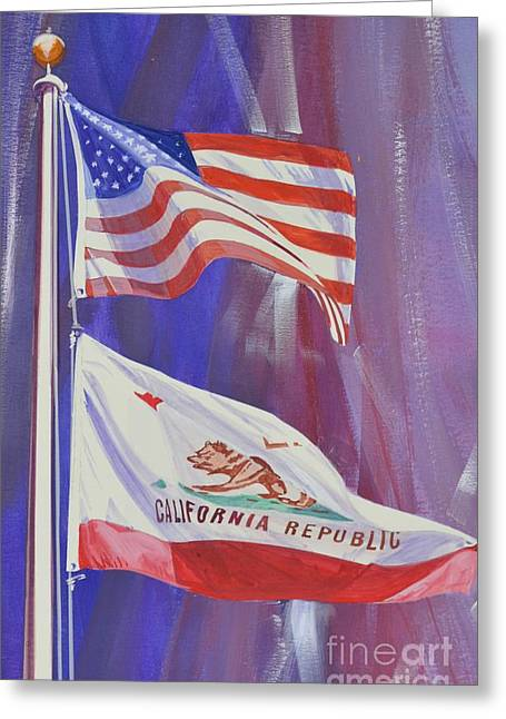 Police Mixed Media Greeting Cards - California Baby Greeting Card by Marco Ippaso