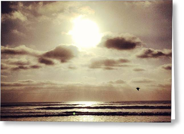 California Ocean Photography Greeting Cards - California Beach at Sunset Greeting Card by Christine Krainock