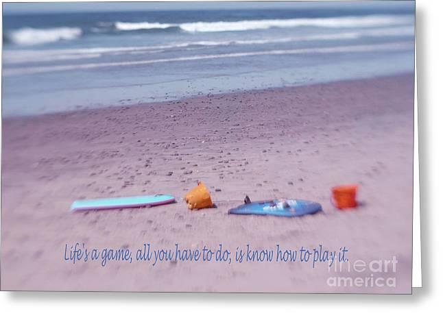 Surfing Boards Greeting Cards - California Beach Life Greeting Card by Irina Wardas