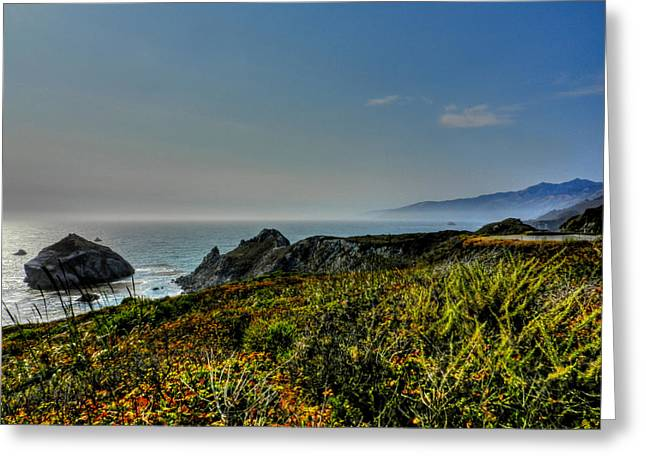 Santa Lucia Mountains Greeting Cards - California - Big Sur 003 Greeting Card by Lance Vaughn