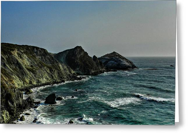 Santa Lucia Mountains Greeting Cards - California - Big Sur 010 Greeting Card by Lance Vaughn
