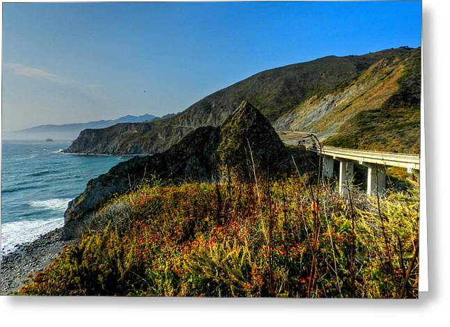 Santa Lucia Mountains Greeting Cards - California - Big Sur 011 Greeting Card by Lance Vaughn
