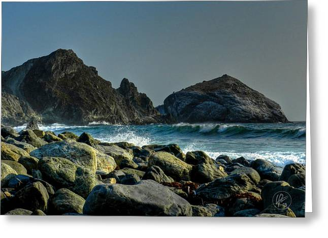 Beaches Greeting Cards - California - Big Sur 013 Greeting Card by Lance Vaughn