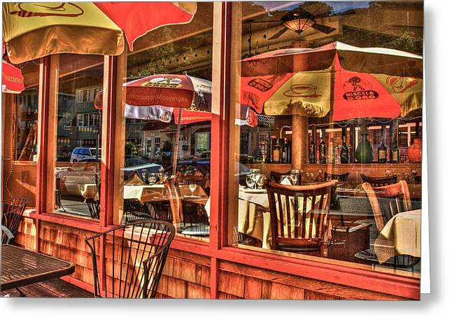 Sausalito Greeting Cards - California Cantina Greeting Card by Ken Cave