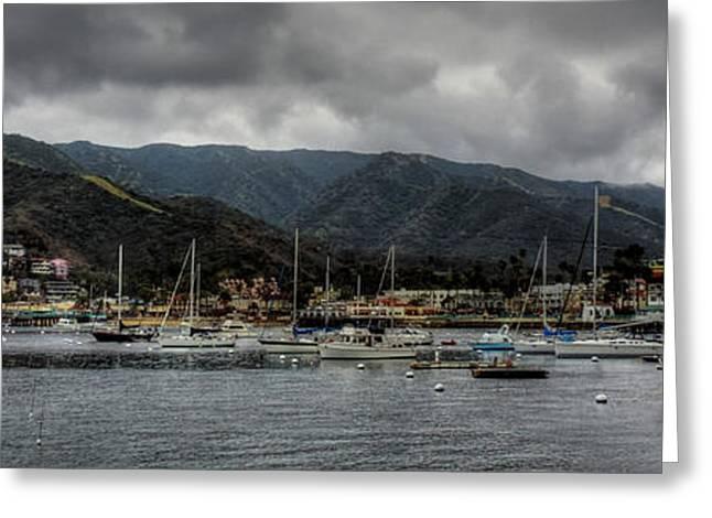 Sailboats Docked Greeting Cards - California - Catalina Island 009 Greeting Card by Lance Vaughn