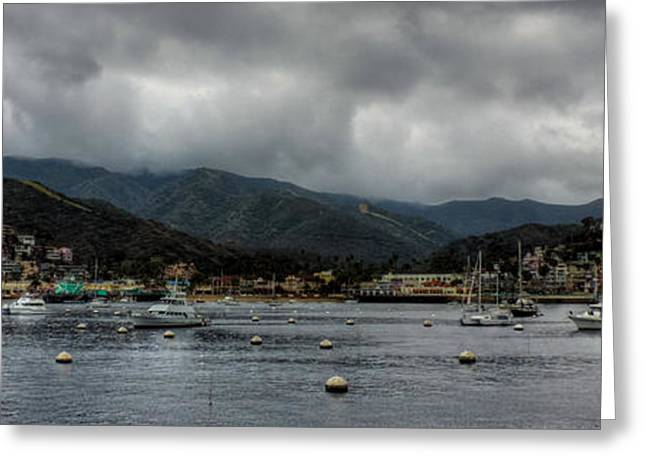 Sailboats Docked Greeting Cards - California - Catalina Island 010 Greeting Card by Lance Vaughn