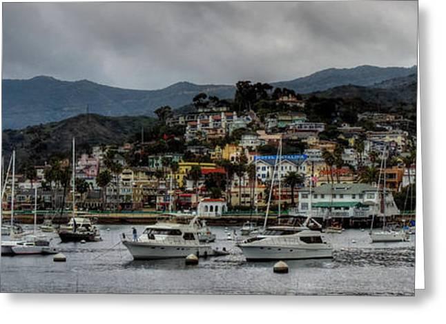 Sailboats Docked Greeting Cards - California - Catalina Island 011 Greeting Card by Lance Vaughn