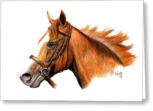 Chrome Paintings Greeting Cards - California Chrome Greeting Card by Pat DeLong