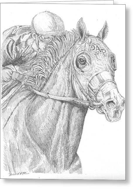 Bred Drawings Greeting Cards - California Chrome Greeting Card by Sue Bonnar