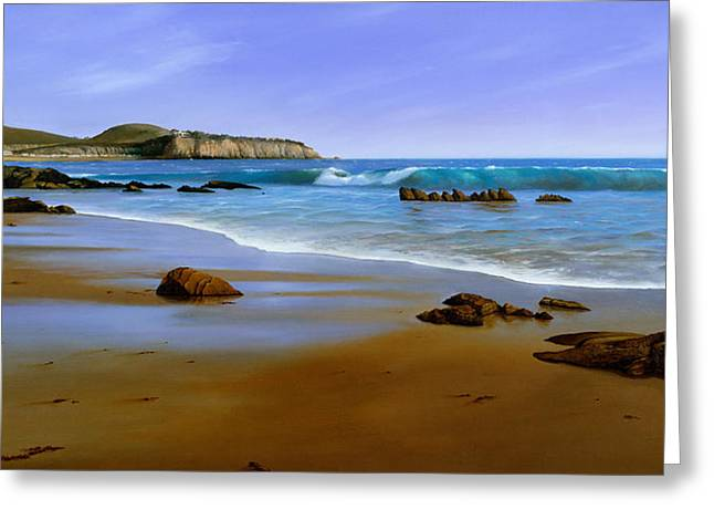 Photo-realism Greeting Cards - California Coast Greeting Card by Cliff Wassmann