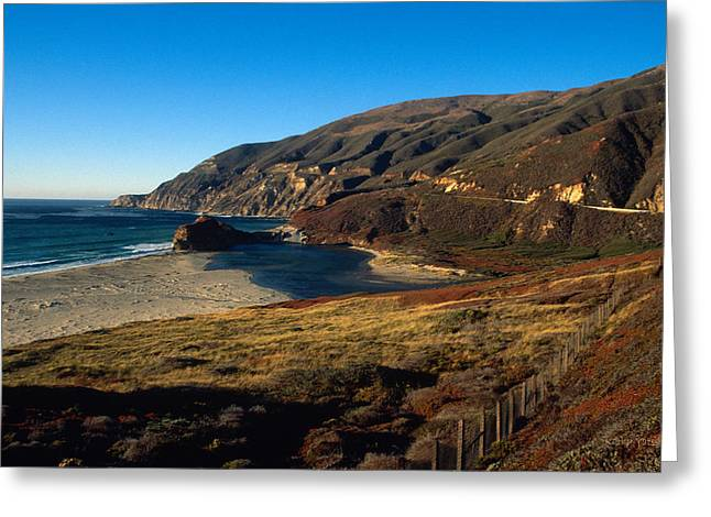 Big Sur Beach Greeting Cards - California Coast in Autumn Greeting Card by Kathy Yates