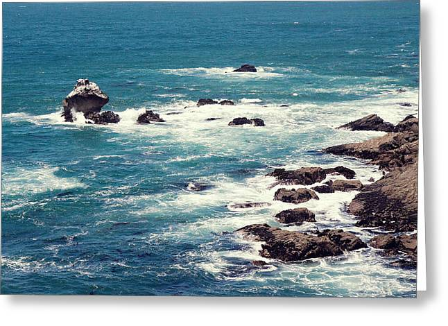 California Beach Greeting Cards - Ocean Blue Greeting Card by Pam  Holdsworth