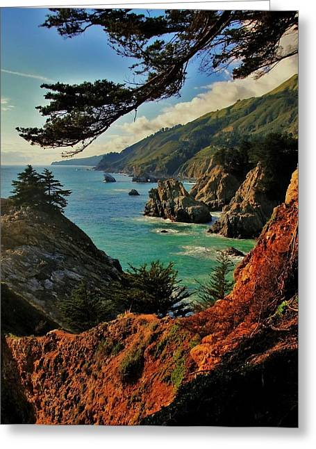 Big Sur Greeting Cards - California Coastline Greeting Card by Benjamin Yeager