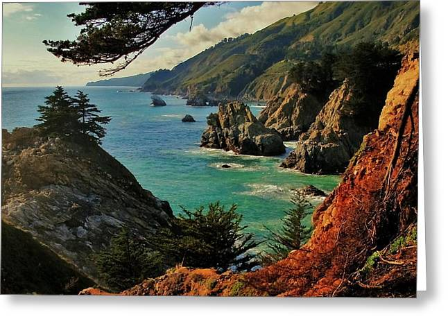 California Coastline Greeting Card by Benjamin Yeager