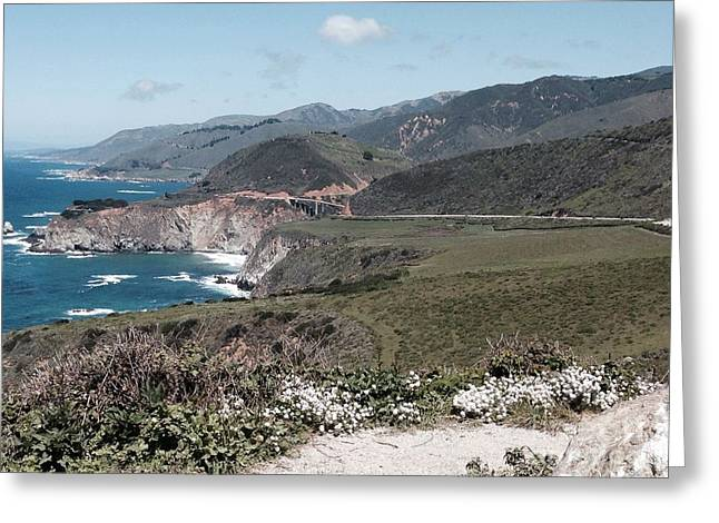 Big Sur Ca Greeting Cards - California Coastline Greeting Card by Christy Gendalia