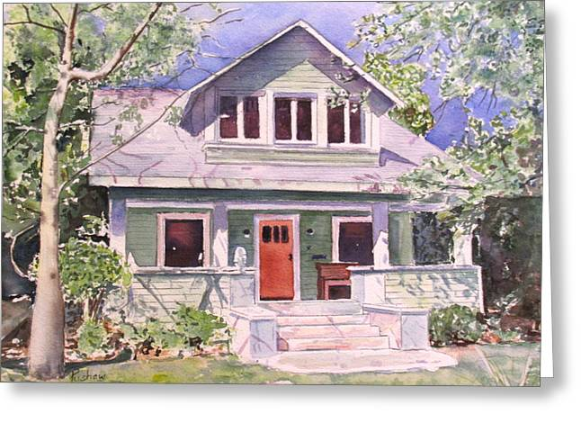 Clients Greeting Cards - California craftsman cottage Greeting Card by Patricia Pushaw