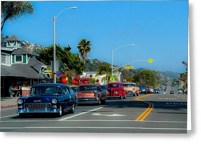 California Cruisin'  Greeting Card by Guinevere Burnard