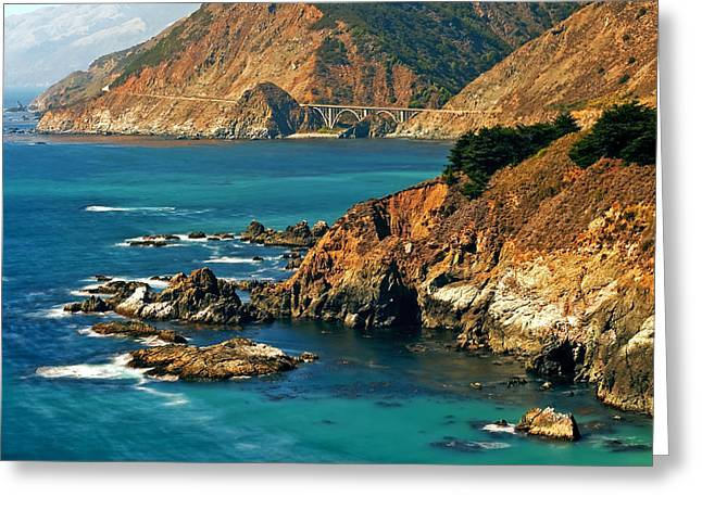 Big Sur Greeting Cards - California Cruzin Greeting Card by Aron Kearney Fine Art Photography
