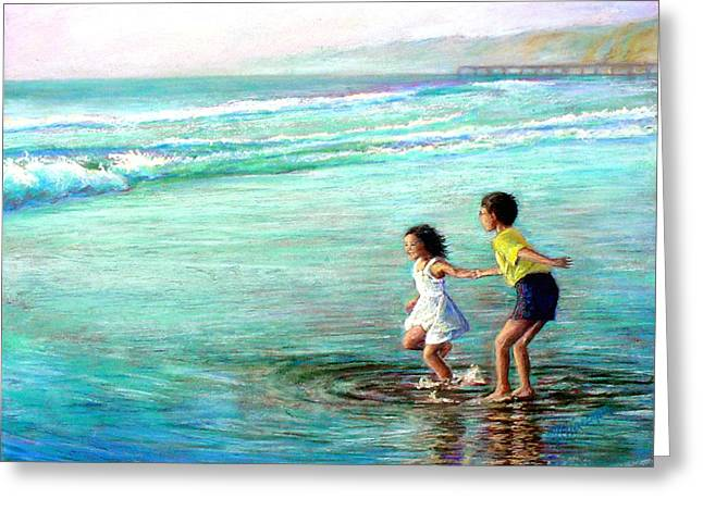 Kid Pastels Greeting Cards - California Dream Greeting Card by Mary Giacomini