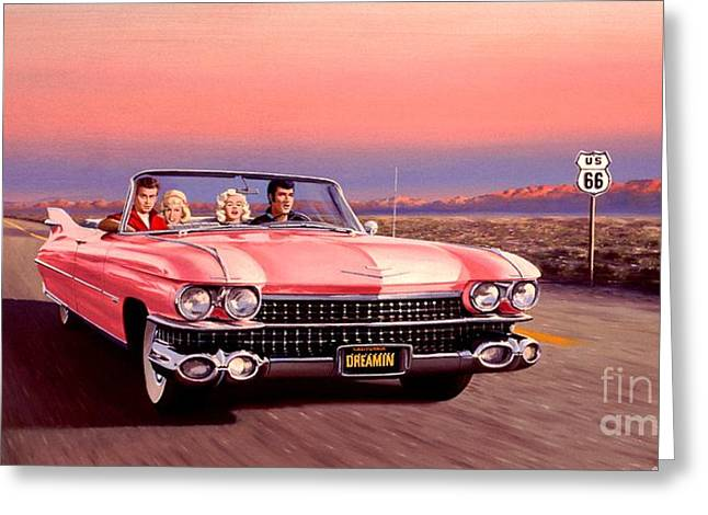 King James Paintings Greeting Cards - California Dreamin Greeting Card by Michael Swanson