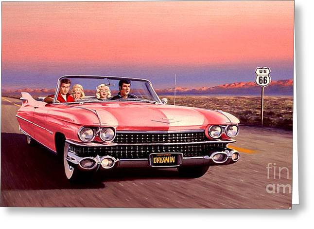Caddy Greeting Cards - California Dreamin Greeting Card by Michael Swanson