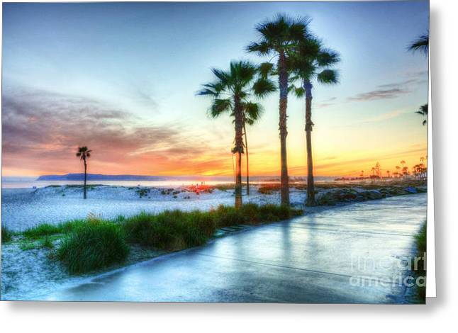 California Beach Greeting Cards - California Dreaming Greeting Card by Mel Steinhauer
