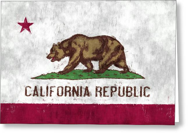 S. California Greeting Cards - California Flag Greeting Card by World Art Prints And Designs