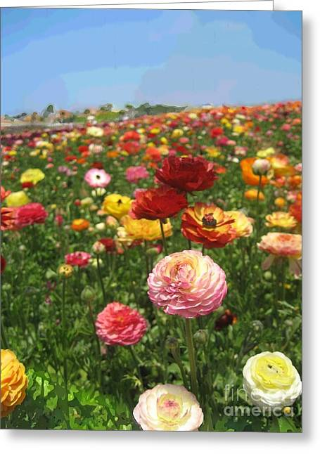 Fed Mixed Media Greeting Cards - California Flowers Greeting Card by Robert Wek