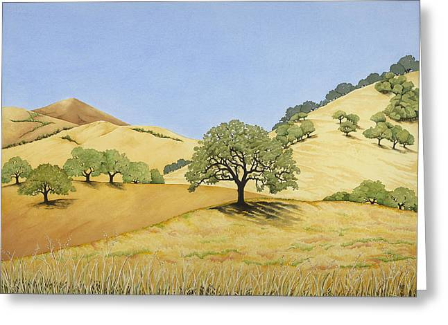 Recently Sold -  - Sienna Greeting Cards - California Gold Greeting Card by Kerry Van Stockum