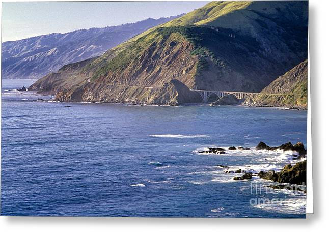 Scenic Drive Greeting Cards - California Highway 1 Scenic Greeting Card by George Oze