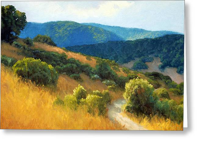 California Hills Greeting Cards - California Hills Greeting Card by Armand Cabrera