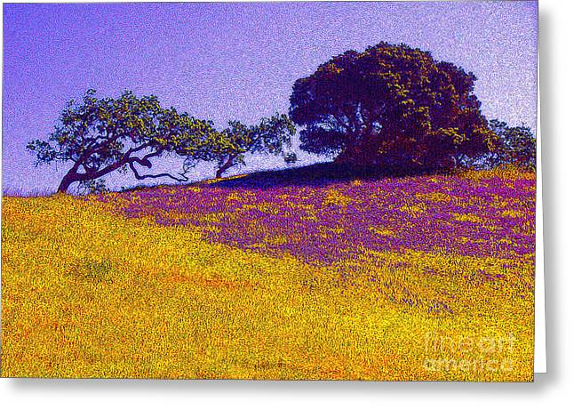 Jerome Stumphauzer Greeting Cards - California Hills Greeting Card by Jerome Stumphauzer