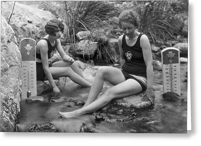 California Hot Springs Greeting Card by Underwood Archives