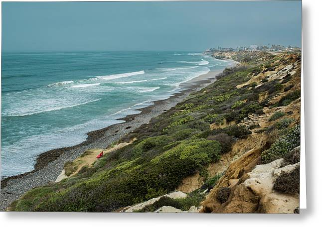 Best Ocean Photography Greeting Cards - California Landscape Greeting Card by Laria Saunders