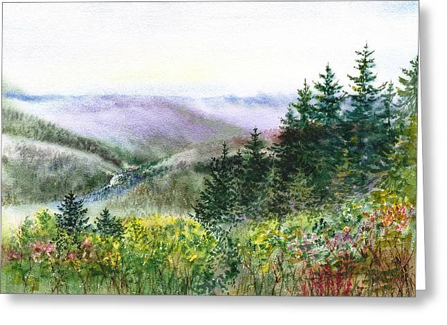 S. California Greeting Cards - California Landscapes View Of The Redwood Creek National Park Greeting Card by Irina Sztukowski