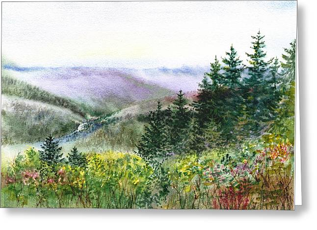 Beautiful Creek Paintings Greeting Cards - Redwood Creek National Park Greeting Card by Irina Sztukowski