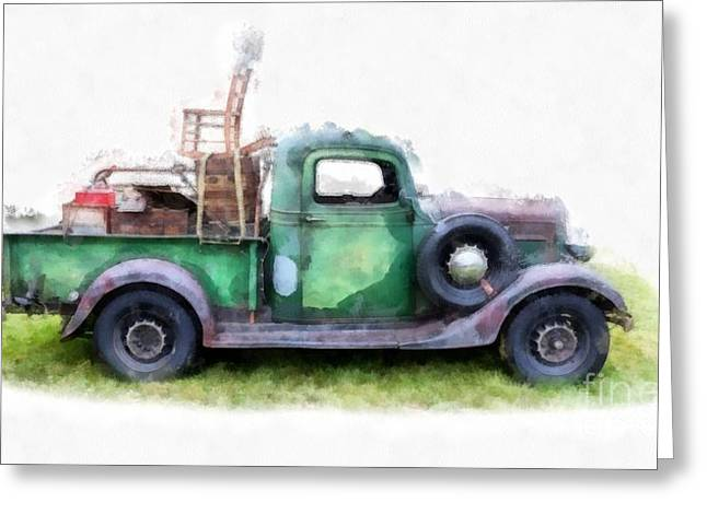Cargo Greeting Cards - California or Bust II Greeting Card by Edward Fielding