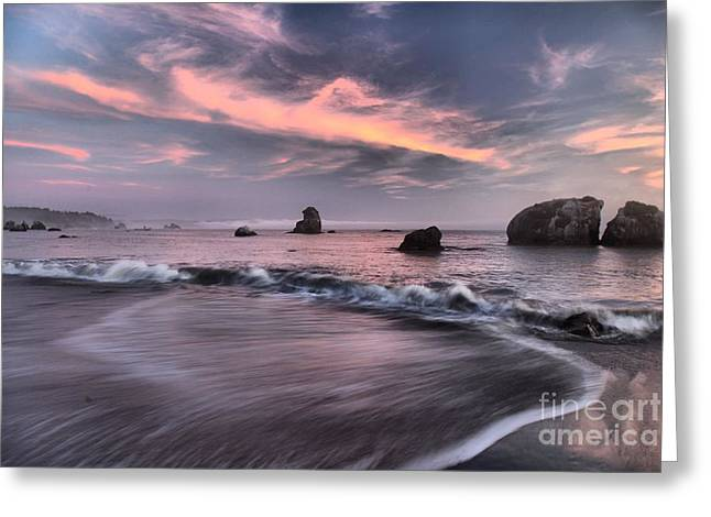 Trinidad Beach Sunset Greeting Cards - California Pastels Greeting Card by Adam Jewell