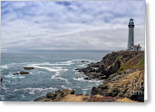 Pigeon Point Light Station Greeting Cards - California Pigeon point Lighthouse  Greeting Card by Frank Bach