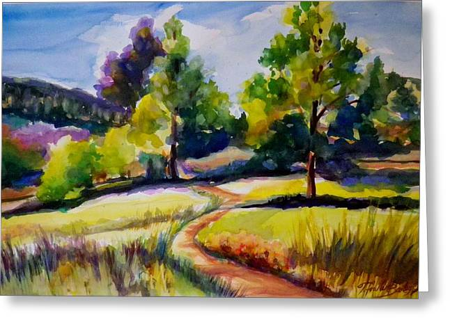 Therese Fowler-bailey Greeting Cards - California Plein Air SOLD Greeting Card by Therese Fowler-Bailey
