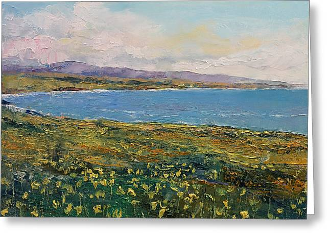 Big Sur Greeting Cards - California Poppies Greeting Card by Michael Creese