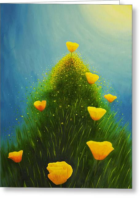 Poppies Home Decor Greeting Cards - California poppies Greeting Card by Veikko Suikkanen