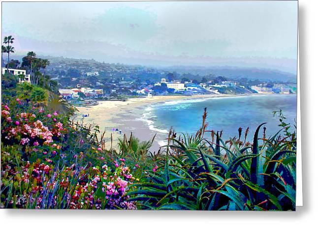 California Riviera Greeting Card by Elaine Plesser