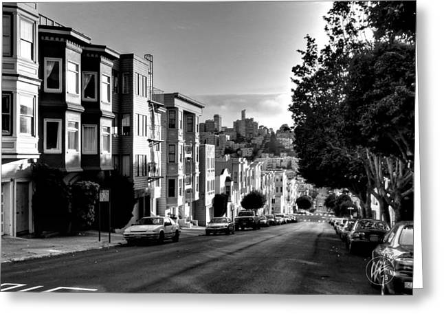 Cityscapes Greeting Cards - California - San Francisco 006 Greeting Card by Lance Vaughn