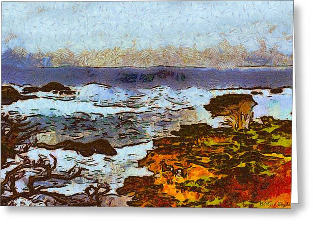 Nature Scene Greeting Cards - California Seascape Greeting Card by Barbara Snyder