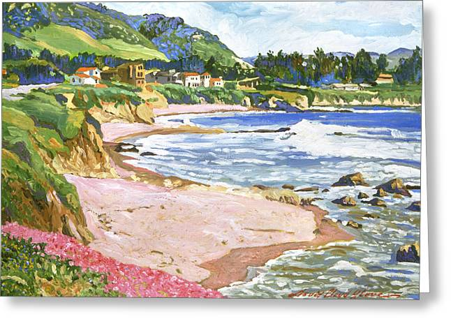 Beach House Paintings Greeting Cards - California Shores Greeting Card by David Lloyd Glover