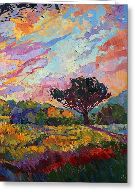 Paso Robles Greeting Cards - California Sky Quadtych - Lower Right Panel Greeting Card by Erin Hanson